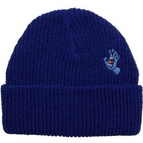 Czapka zimowa - screaming mini hand beanie indigo (indigo) rozmiar: os marki Santa cruz