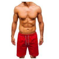 Krótkie spodenki kąpielowe męskie czerwone Denley 82252