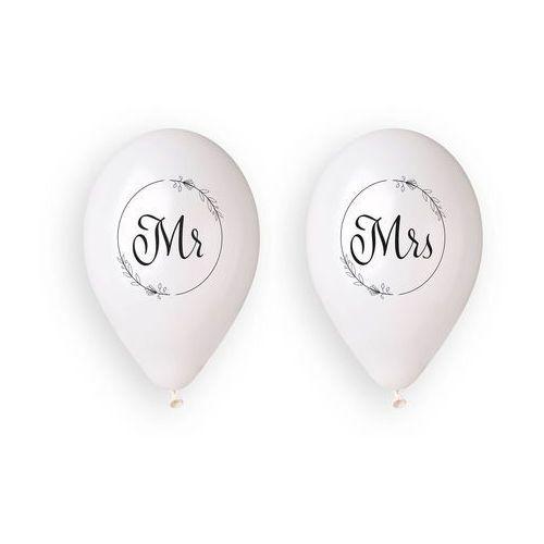 Gemar Balony lateksowe z nadrukiem weselnym mr i mrs - 33 cm - 4 szt.