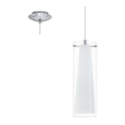 89832 - lampa wisząca pinto 1 x e27/60w biały/opalone szkło marki Eglo