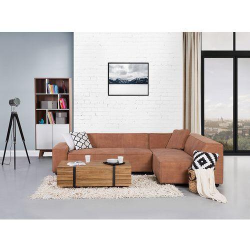 Sofa koniakowa - Narożnik skórzana - ADAM L