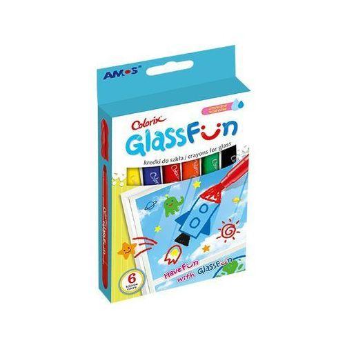Kredki do szkła GlassFun 6 kolorów AMOS (8802946508303)