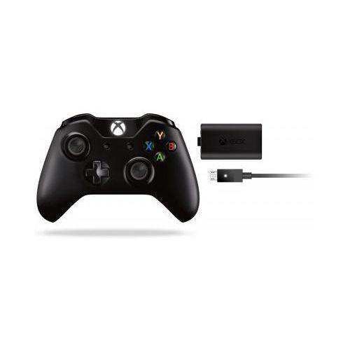Kontroler bezprzewodowy MICROSOFT z zestawem Play&Charge do konsoli Xbox One z kategorii Gamepady