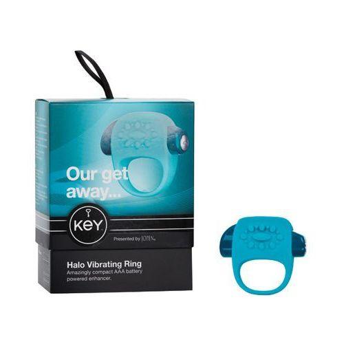 Wibrujący pierścień na penisa - Key by Jopen Halo Cock Ring niebieski