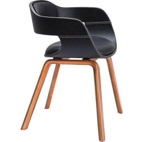 :: krzesło costa walnut - brązowe nogi, czarne siedzisko marki Kare design