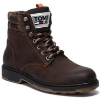 Tommy jeans Trapery - casual suede boot em0em00315 winter cognac 906