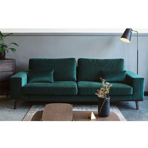 Sofa 3-osobowa Modena zielona, kolor zielony