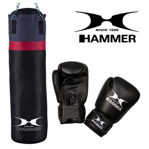 Hammer Zestaw bokserski cobra – worek hammer cobra (100cm) + rękawice hammer fit 10 oz