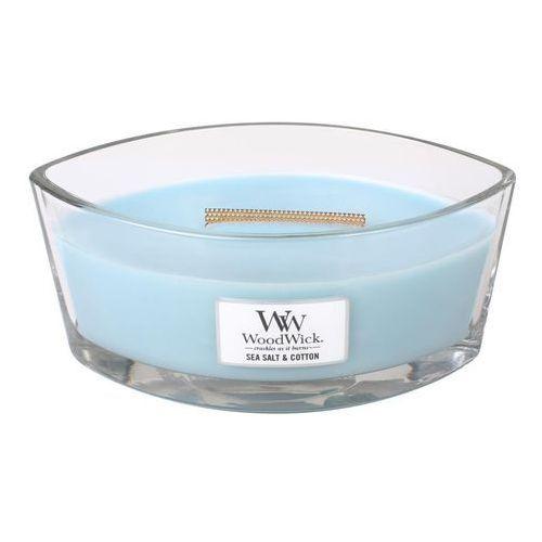 - świeca hearthwick flame salt sea cotton 60h marki Woodwick