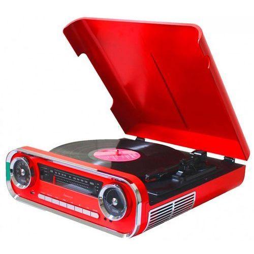 Gramofon LAUSON 01TT17 Retro Czerwony