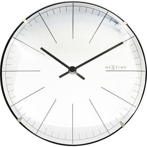 Nextime Zegar ścienny lub stołowy big stripe mini biały