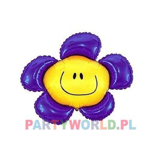 Balon foliowy kwiatek fioletowy 24'' 1szt marki Twojestroje.pl