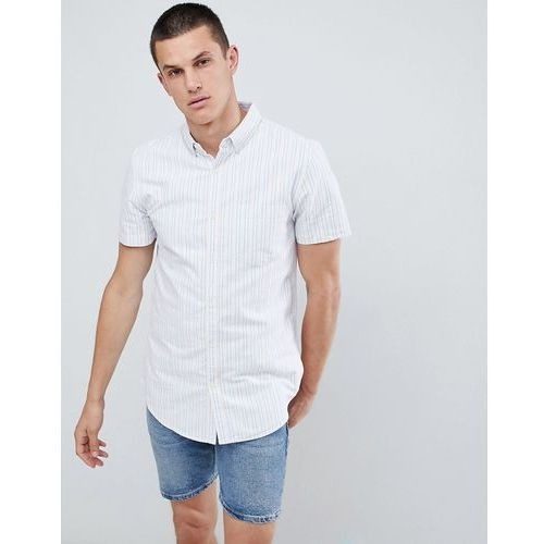 New look regular fit shirt with two tone stripe in pink - pink