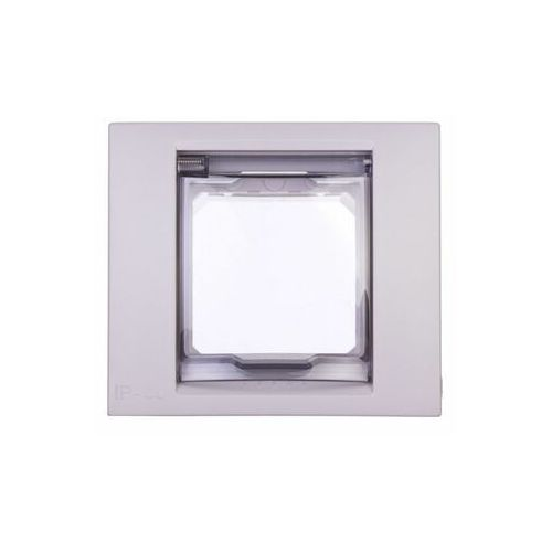 Schneider unica plus ramka 1-krotna ip44 - szary alabaster mgu61.002.865 (8420375164053)