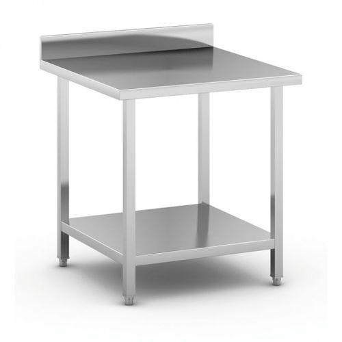 Stół roboczy ze stali nierdzewnej z półką, 800 x 800 x 850 mm