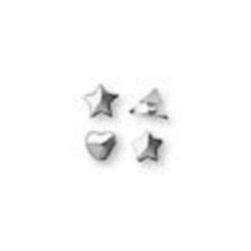 Kolczyk Motyw Trójkąt Srebrny R504w
