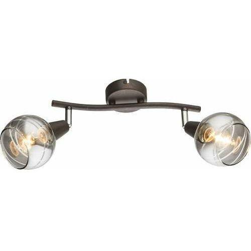 Plafon Globo Isla 54347-2 lampa sufitowa 2x4W E14 LED brąz