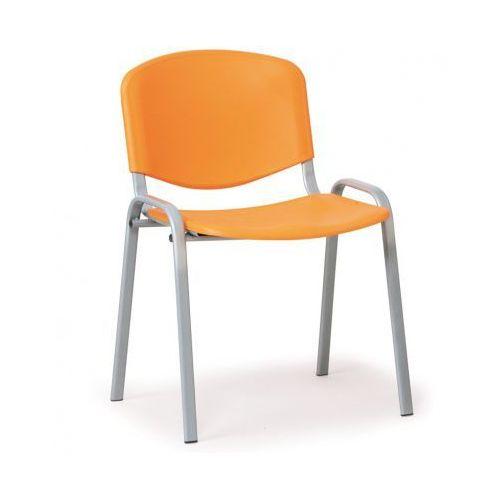 Plastikowe krzesła ISO, pomarańczowy - kolor konstrucji szary