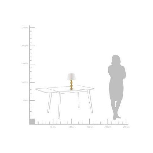 Beliani Lampa stołowa biało-złota jollie