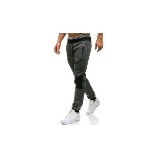Spodnie męskie dresowe joggery czarne Denley W1209, dresowe