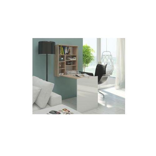 Biurko Smart- dąb sonoma/ biały połysk (5904341367752)