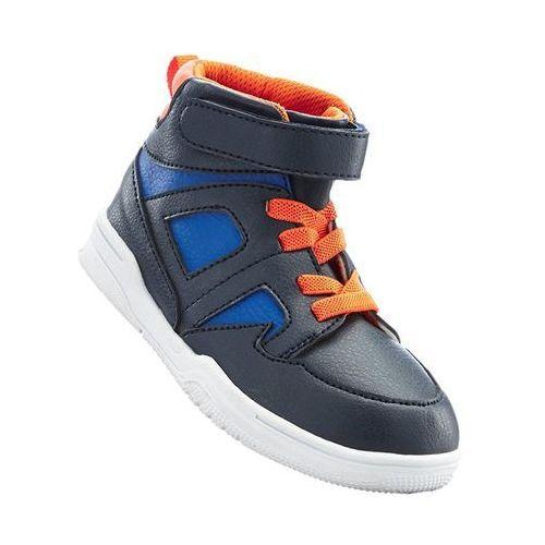 Trampki bonprix ciemnoniebiesko-pomarańczowo-błękit królewski z kategorii Buty sportowe dla dzieci