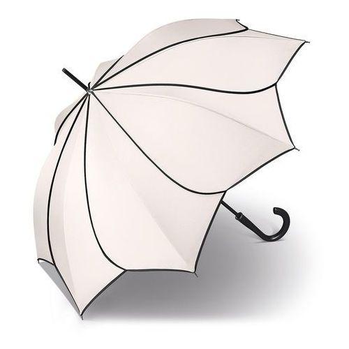 Pierre cardin sunflower black & white długi parasol automatyczny long ac / biały - biały (4012428822672)