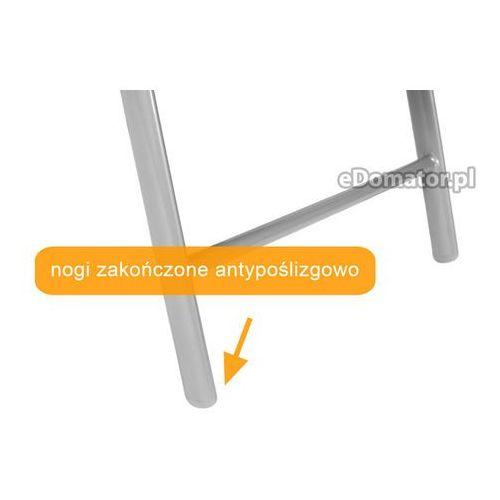 Krzesło ogrodowe składane aluminiowe modena - czarne - czarny marki Edomator.pl