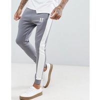 skinny joggers in grey with logo - grey marki 11 degrees
