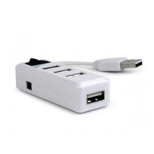 HUB USB Gembird 4-portowy HUB z włącznikiem USB 2.0 biały (UHB-U2P4-01) Darmowy odbiór w 21 miastach!, UHB-U2P4-01