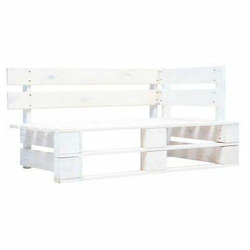Elior Biała ławka ogrodowa z palet - bradley 3x