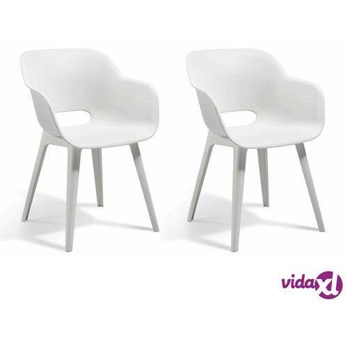 Allibert krzesła ogrodowe akola, 2 szt., białe