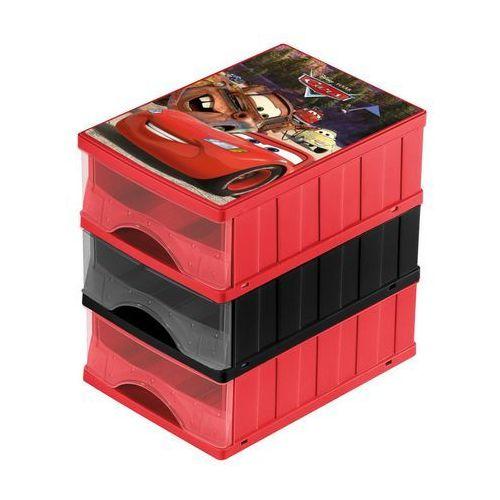 Zestaw 3 szuflad SZUFLADY A5 CARS 25 x 18 x 25 cm KEEEPER (3110142254005)