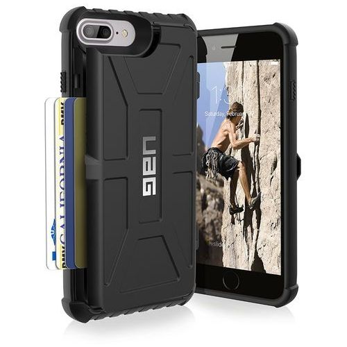 uag trooper etui ochronne z miejscem na karty iphone 8 plus / 7 plus / 6s plus / 6 plus (black) marki Urban armor gear