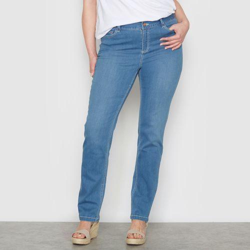 """Castaluna Proste, streczowe dżinsy """"obfite kształty"""" wewn. dł. nogawki. 73 cm"""