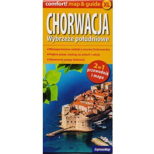 Chorwacja. Wybrzeże południowe. Mapa samochodowa. Przewodnik i mapa. 2w 1 + zakładka do książki GRATIS (9788375466782)