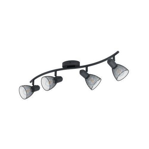 Eglo Carovigno 98623 listwa lampa oprawa sufitowa 4x40W E14 czarna, kolor Czarny