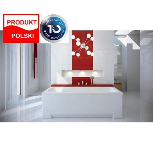 Besco Besco optima 140x70cm wanna prostokątna + obudowa + syfon #wao-140-pk/#oao-140-pk/19975 140 x 70 (Optima 140)