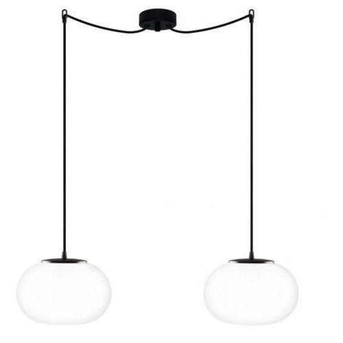 Lampa wisząca dosei elementary 2/s/opal matte szklana oprawa klasyczna minimalistyczny zwis biały matowy marki Sotto luce