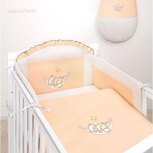 MAMO-TATO Ochraniacz na szczebelki do łóżeczka 60x120 Śpioch w hamaku brzoskwiniowy