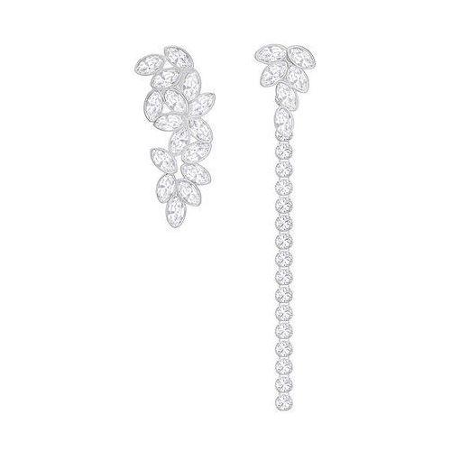 garden pierced earrings with jacket, white white rhodium-plated wyprodukowany przez Swarovski
