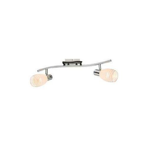 Listwa lampa oprawa sufitowa Globo Toay 2x40W E14 biały/brązowy/chrom 541010-2 (9007371314478)