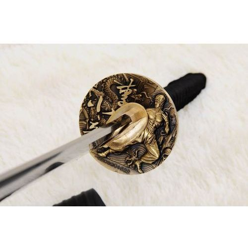 Kuźnia mieczy samurajskich Miecz samurajski katana maru do treningu, stal wysokowęglowa 1095, ręcznie kuta, bruce lee r876