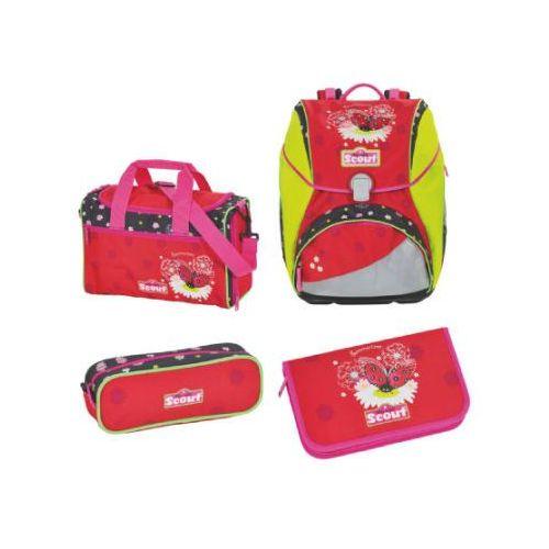 Scout alpha plecak z akcesoriami szkolnymi, 4-częściowy - summertime