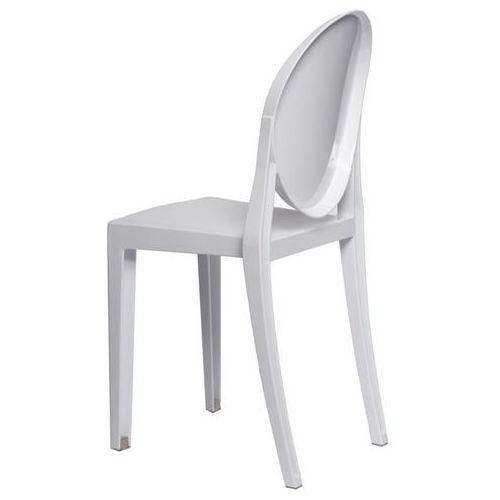 Krzesło Viki białe pełne - biały, 48922