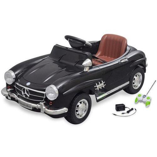 Vidaxl samochód elektryczny dla dzieci czarny mercedes benz 300sl 6v + pilot
