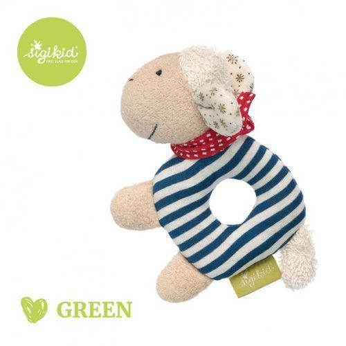 grzechotka przytulanka owieczka kolekcja ekologiczna green marki Sigikid