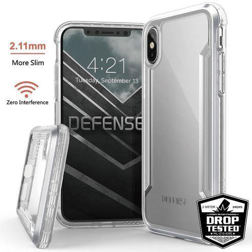 X-doria defense shield - etui aluminiowe iphone xs / x (drop test 3m) (silver/clear) (6950941474290)