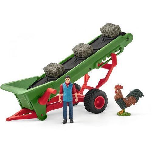 Farmer z taśmociągiem na siano - Schleich, 5_599673
