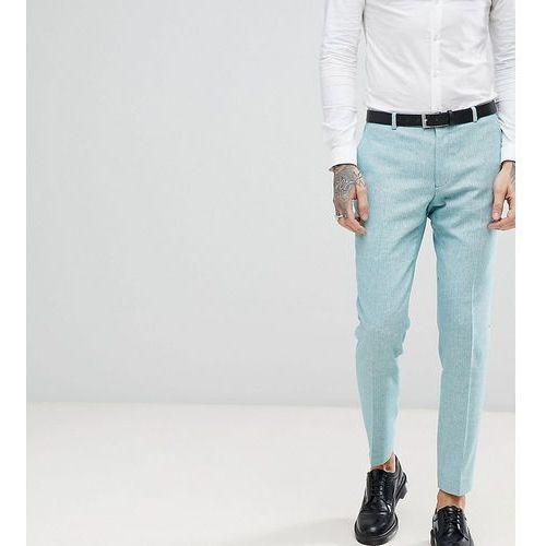 Heart & Dagger Skinny Wedding Suit Trousers In Herringbone Tweed - Green